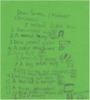 Sweet Pea's Christmas List