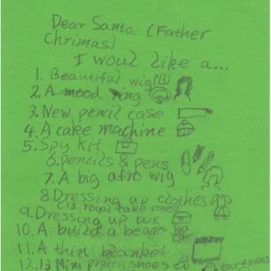 Sweet Pea's Christmas List